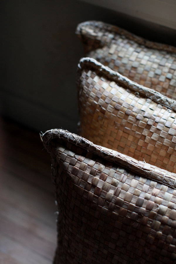 nomad collective Indonesian Woven Floor Pillow - natural
