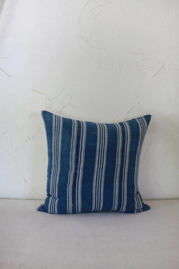 nomad collective Stripe Pillow - indigo