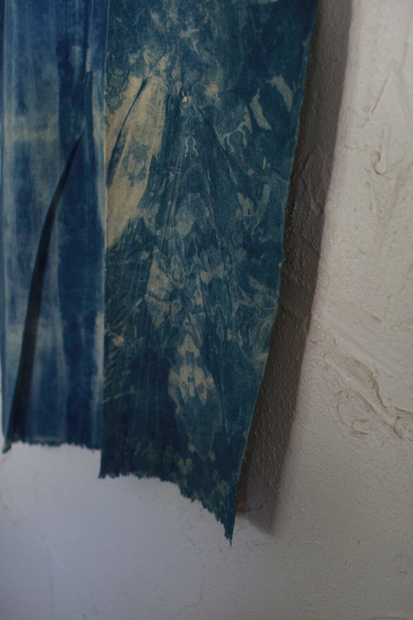 nomad collective Raw Silk Textile - indigo