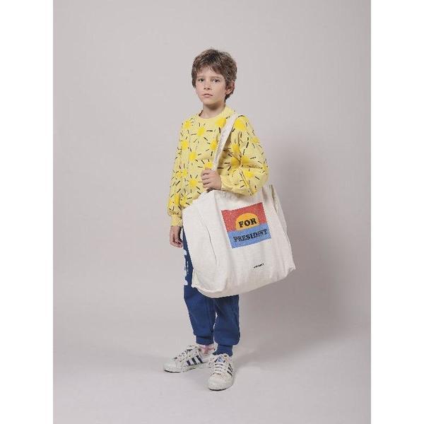 kids bobo choses for president tote bag - cream