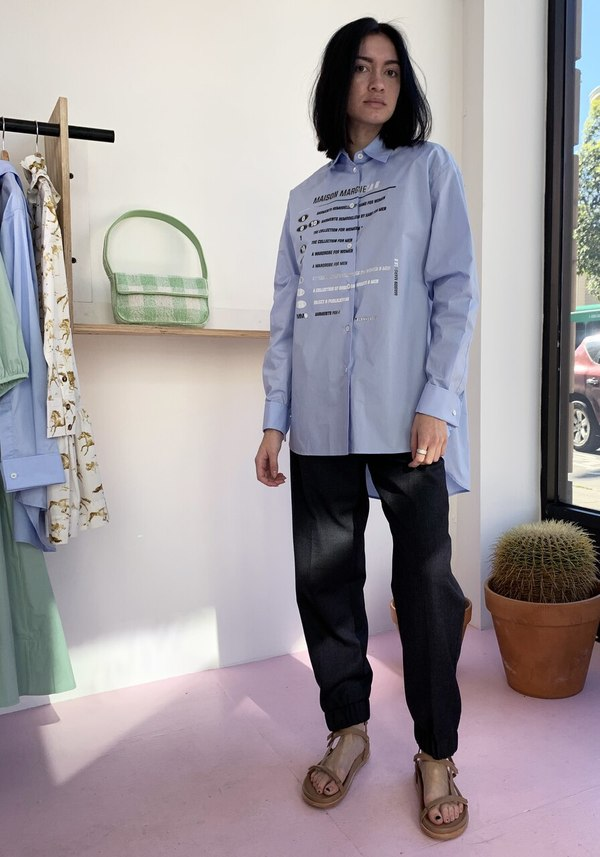 Maison Margiela MM6 Composition Poplin Shirt - Sky Blue