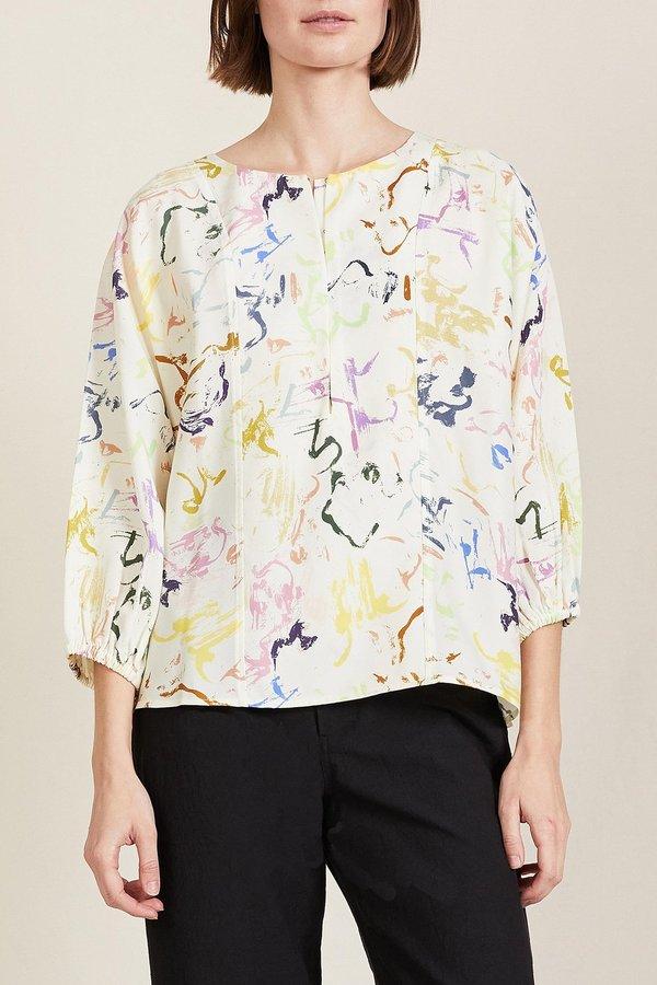 Apiece Apart Bequia Top - Brushstrokes Floral