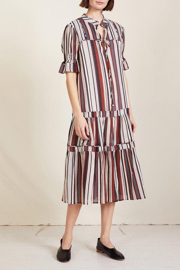 Apiece Apart Los Altos Dress - Sienna Stripe Siesta