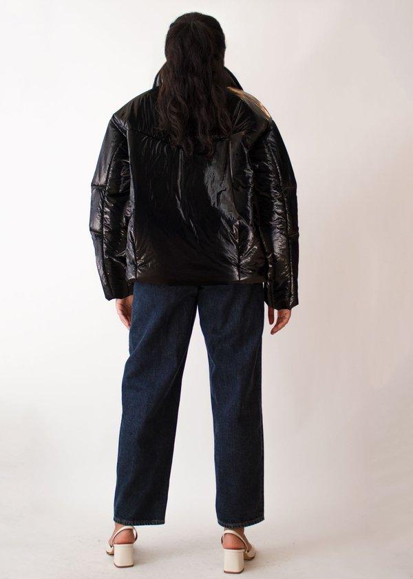 W A N T S Shiny Puffer Jacket - Black
