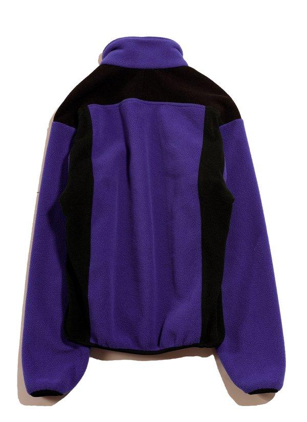 Vintage Moonstone 1/4 Zip Fleece Sweater - Purple/Black