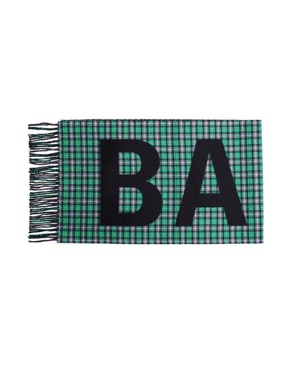 Balenciaga Checked With Logo Scarf