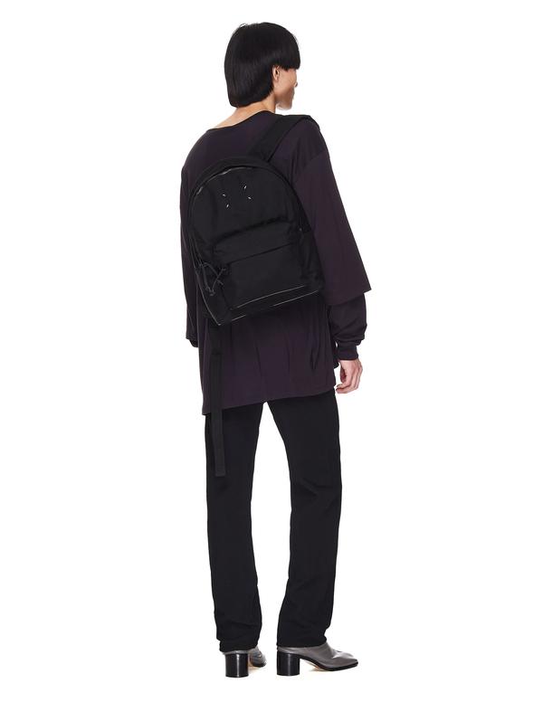 Maison Margiela With Logo Backpack - Black