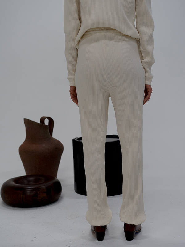 Baserange Rib Sweatpants, Off White