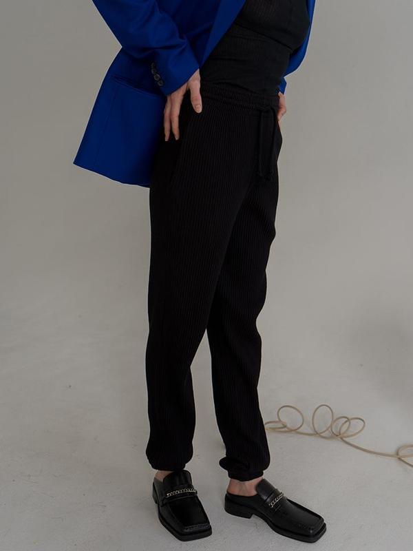 Unisex Baserange Rib Sweatpants - Black