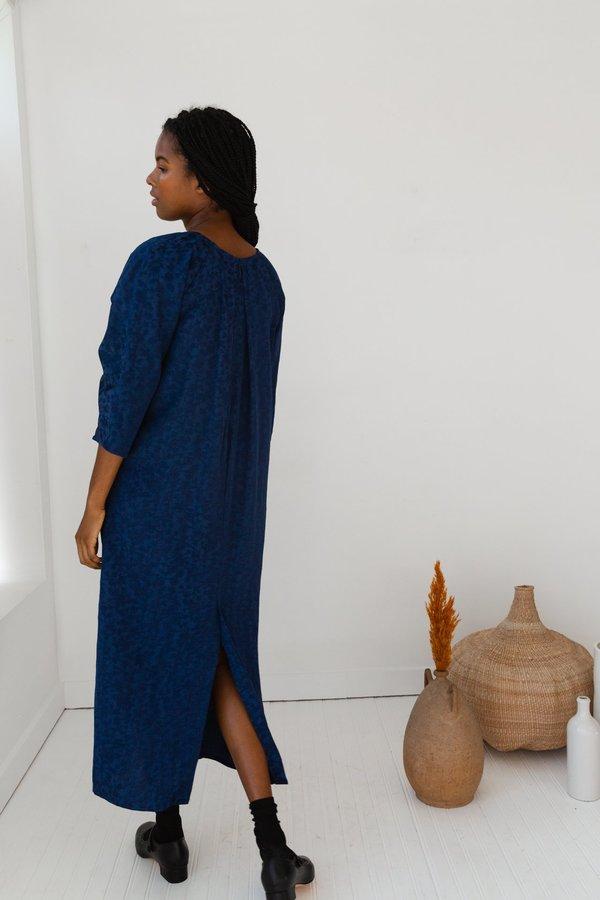 Caron Callahan Alexis Dress - Navy Jacquard
