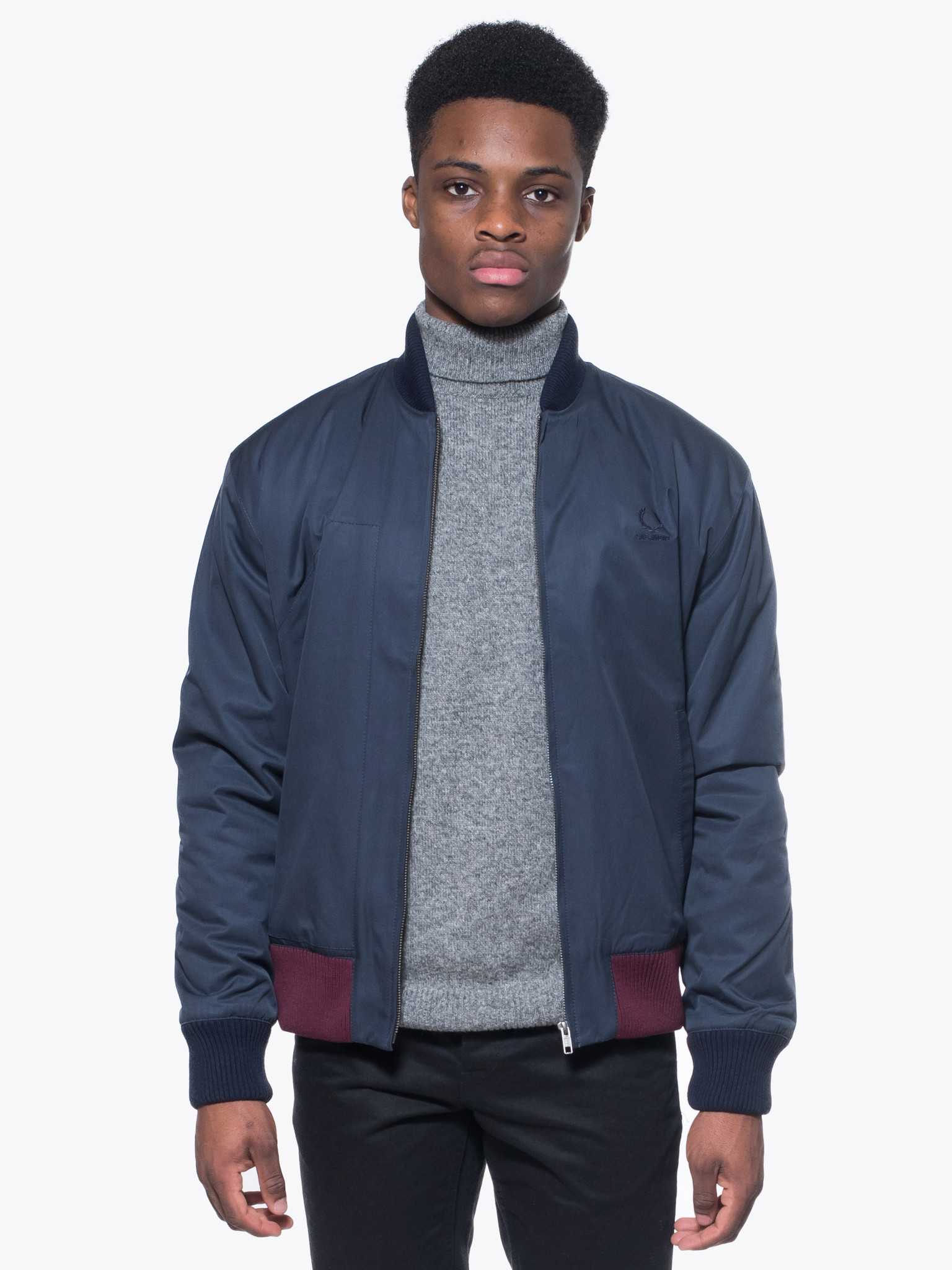 raf simons x fred perry padded bomber jacket garmentory. Black Bedroom Furniture Sets. Home Design Ideas
