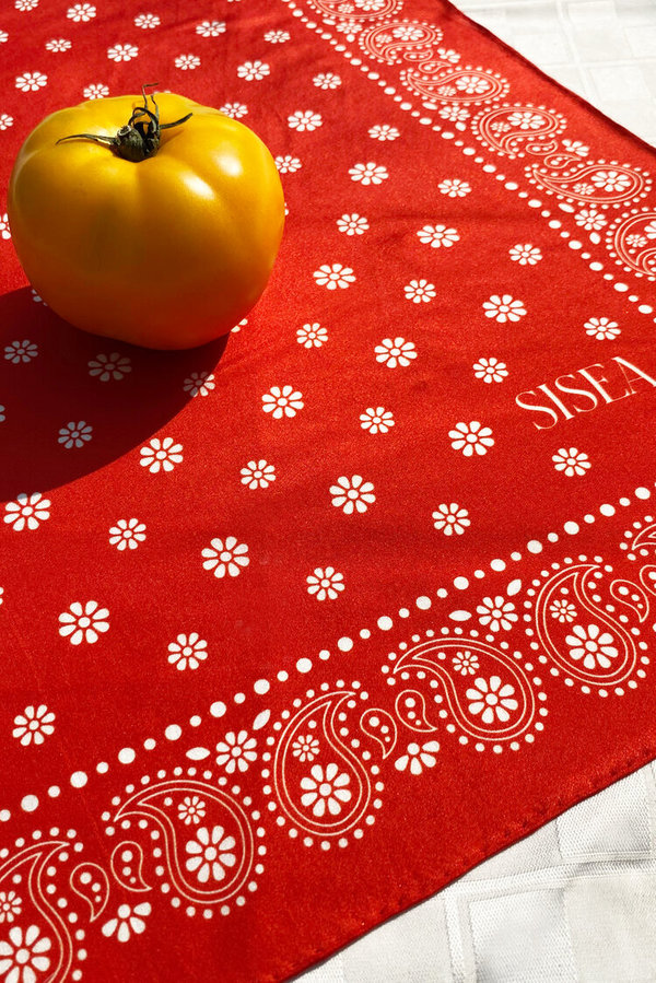 Conifer Sisea Silk Scarf - Red