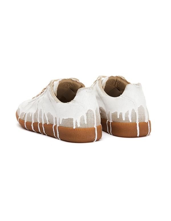 Maison Margiela Linen Replica Sneakers - White Paint