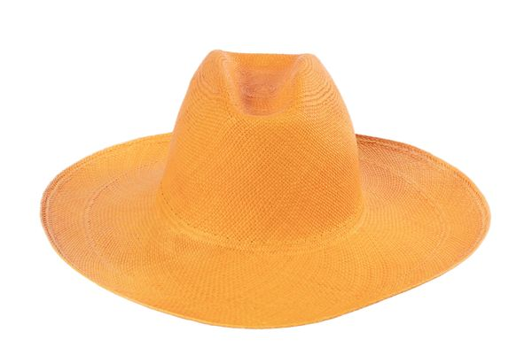 Panama Cowboy Hat in Orange