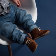 Little Lulu's Brown and Green Edward Desert Boots