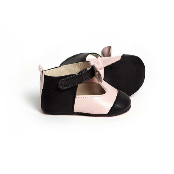 Little Lulu s Pink and Black Matilda T Bars with Bows