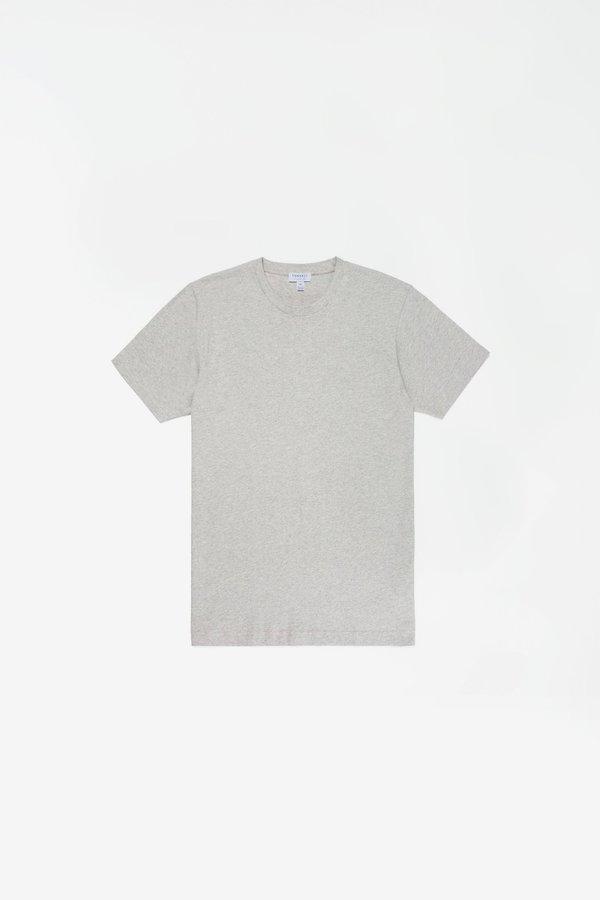 Sunspel Organic cotton riviera t-shirt - grey melange