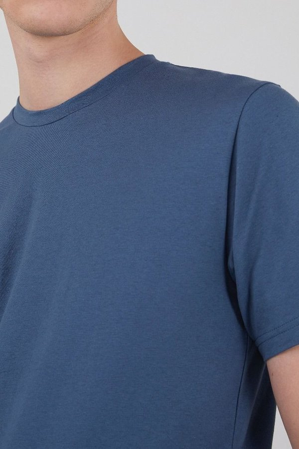 Sunspel Organic cotton riviera t-shirt - light smoke blue melange