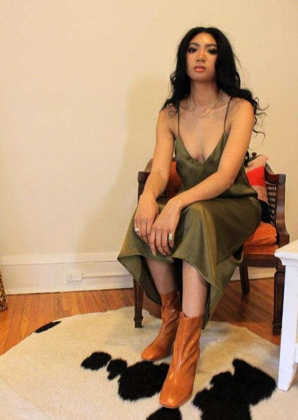 Whimsy + Row Jade Dress - Brown