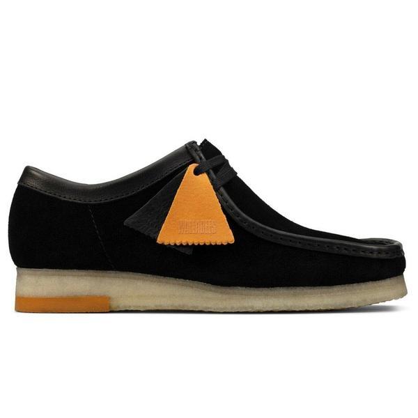 Clarks Wallabee shoes - Black Combi