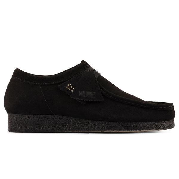 Clarks Wallabee shoes - Black Suede