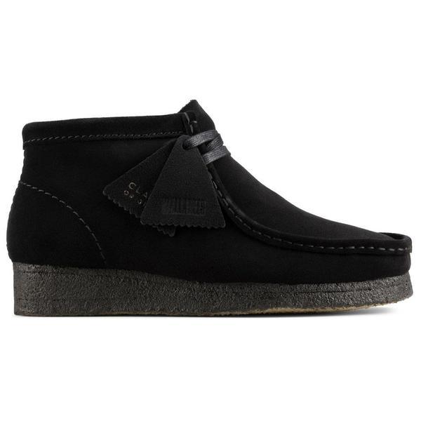 Clarks Wallabee Boot - Black Suede