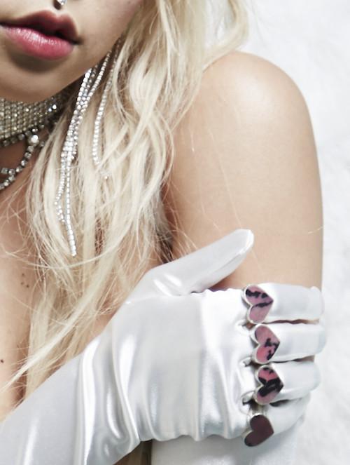 Brooke Candy x Legier Heart Stone Signet Ring Silver