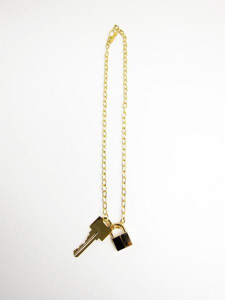 Lauren Klassen Lock and Key Necklace - 14k GOLD