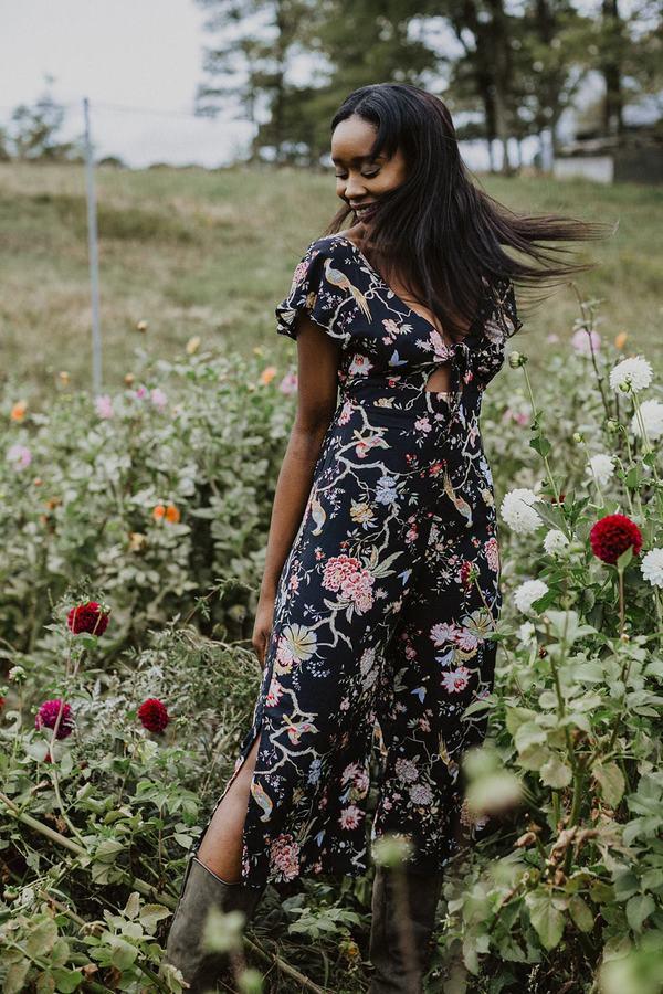 Conrado Johanna Jumpsuit - Black Floral