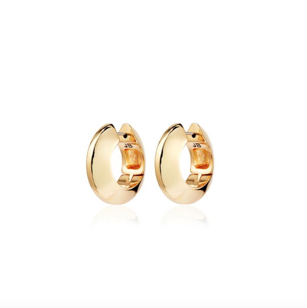 Jenny Bird Wide Hinged Hoops - Gold