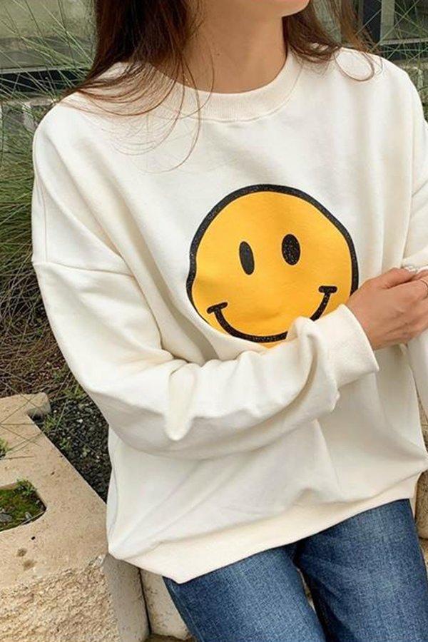 ADULT SMILE SWEATSHIRT (IVORY)