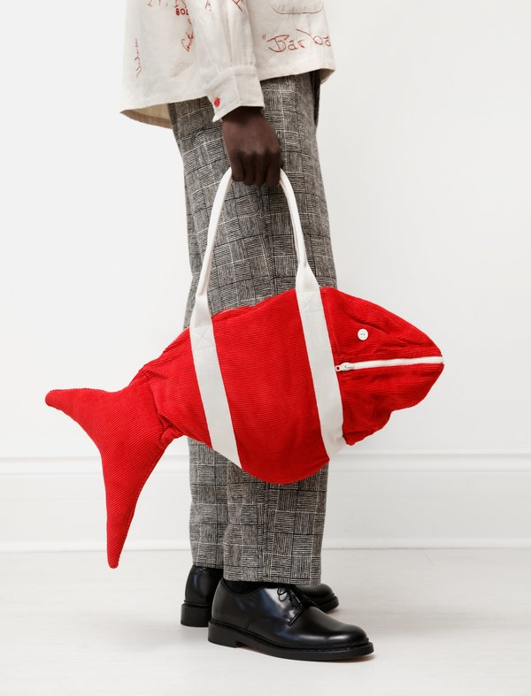 Corduroy Fish Bag Red