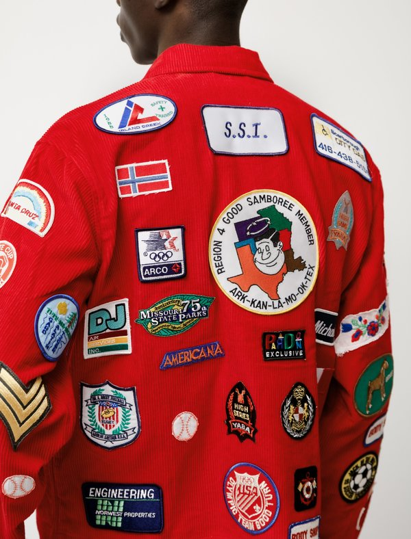 Multi Patch Jacket Red