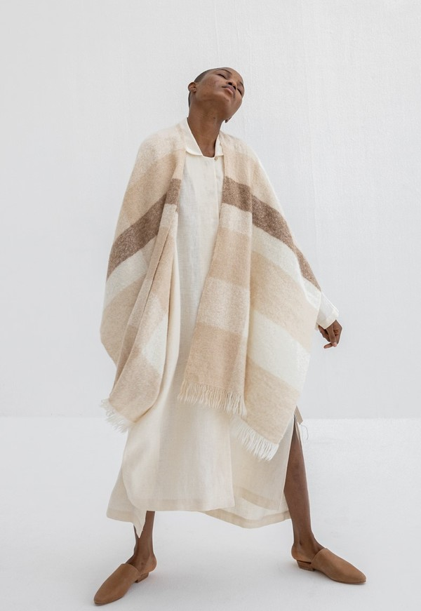 Lauren Manoogian Handwoven Fluffy Plaid Serape