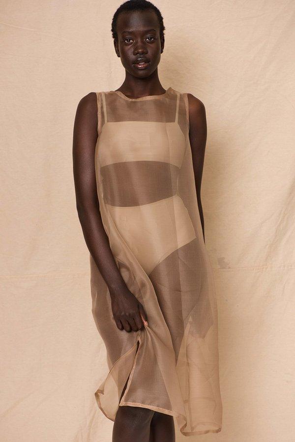 Organza Dress | Stone