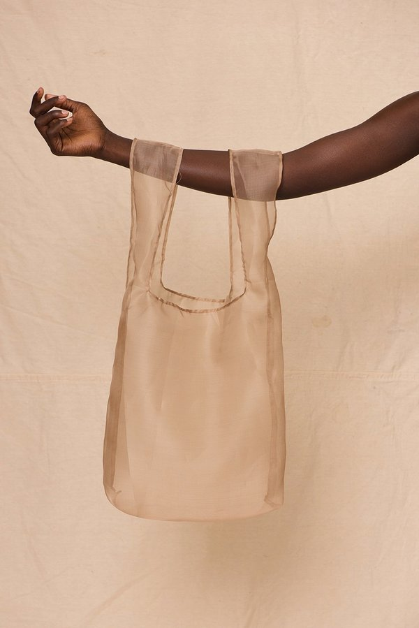 Organza Shopper | Stone