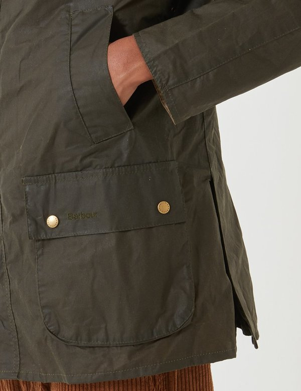 Barbour Lightweight Ashby Wax Jacket - Archive Olive