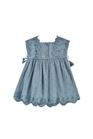 kids Louise Misha Leilani Dress - Storm Plumetis