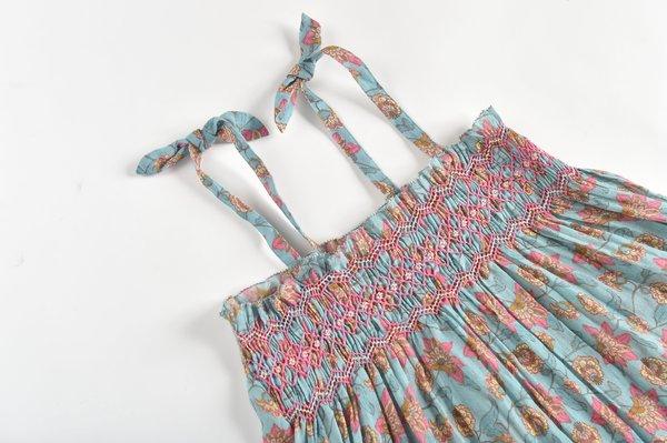 KIDS Louise Misha Marceline Dress - Turquoise Flowers