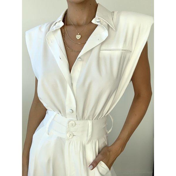 NonChalant Briana Bodysuit - White