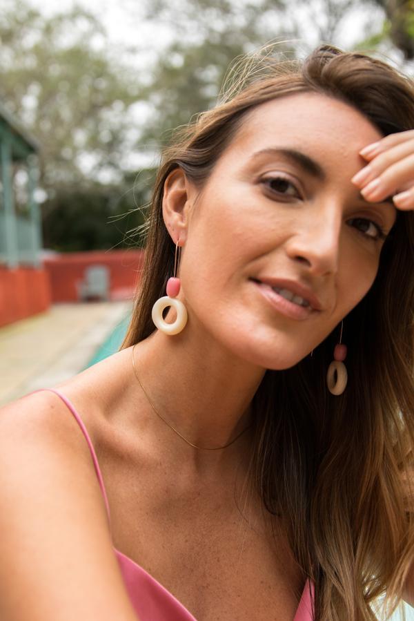 CENTRO SLIP-ON EARRINGS / RHODO