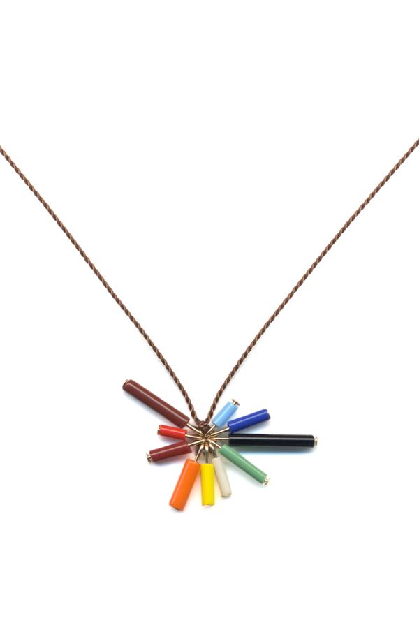 Rainbow Bar Burst Necklace