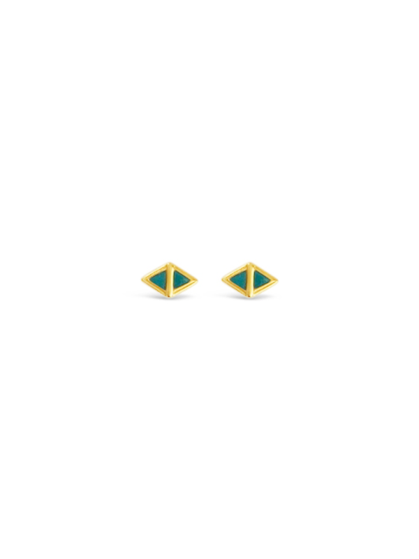 Scout Earrings, Gold/Turquoise