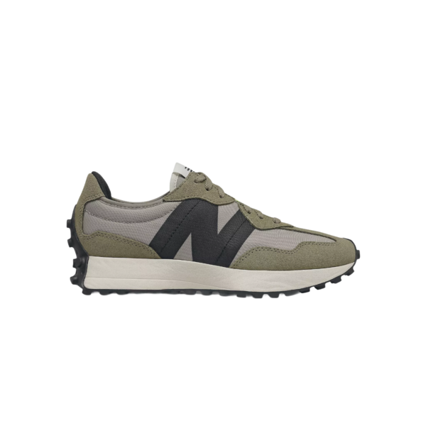 New Balance 327's Womens WS327BB Sneakers - Aluminum/Cover Green