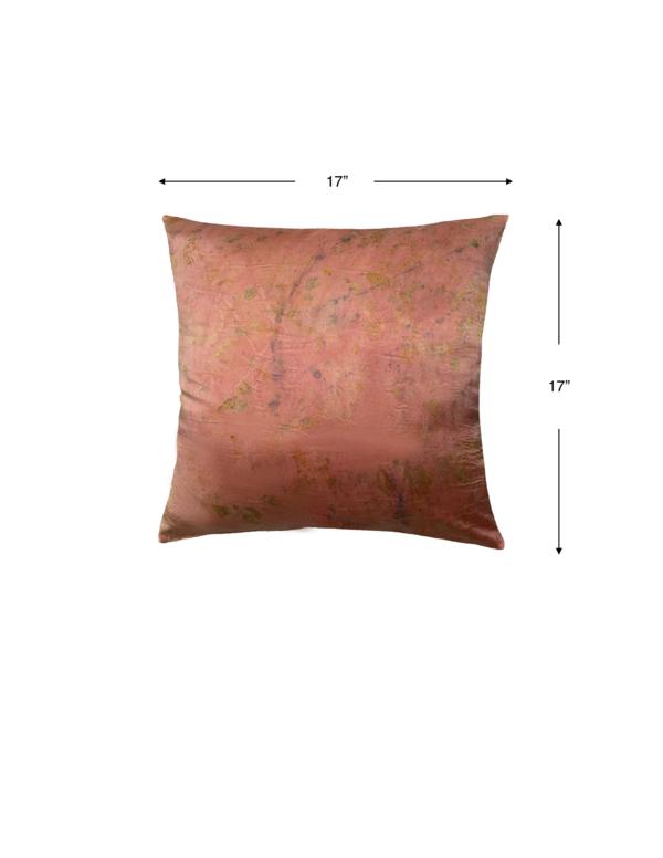 KES Sustainable Kapok Pillow with Organic Dye in Silk + Linen
