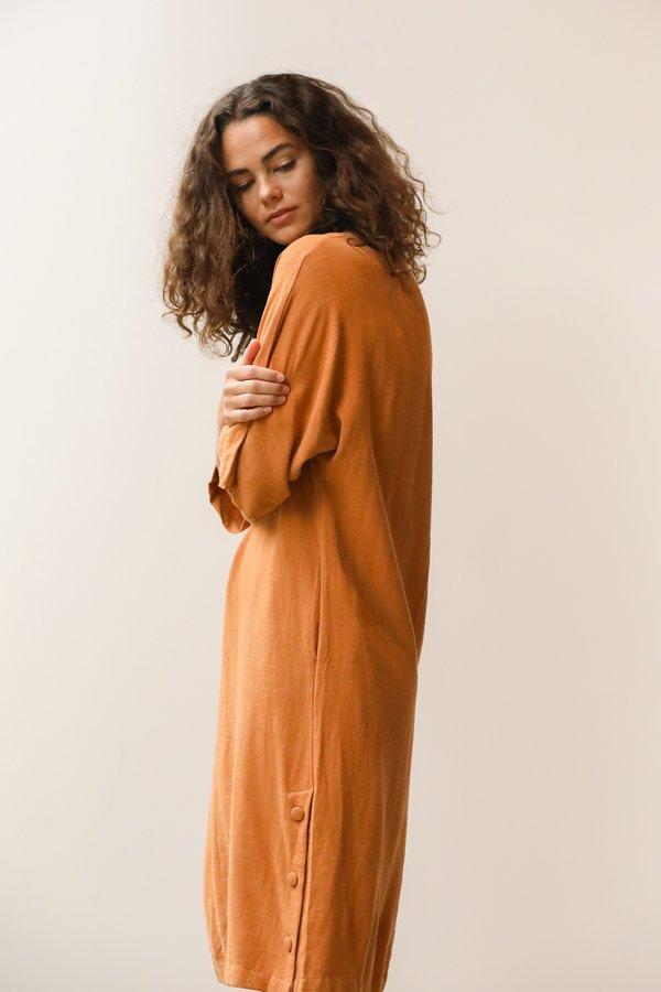 at Dawn. Kimono Midi Dress - Hazel