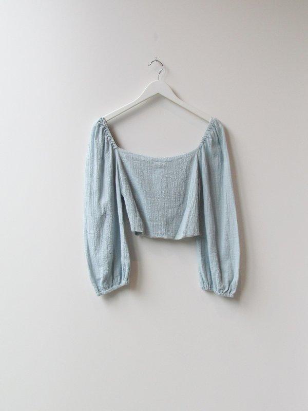 Sample Puff Sleeve Crop Top - Long Sleeve