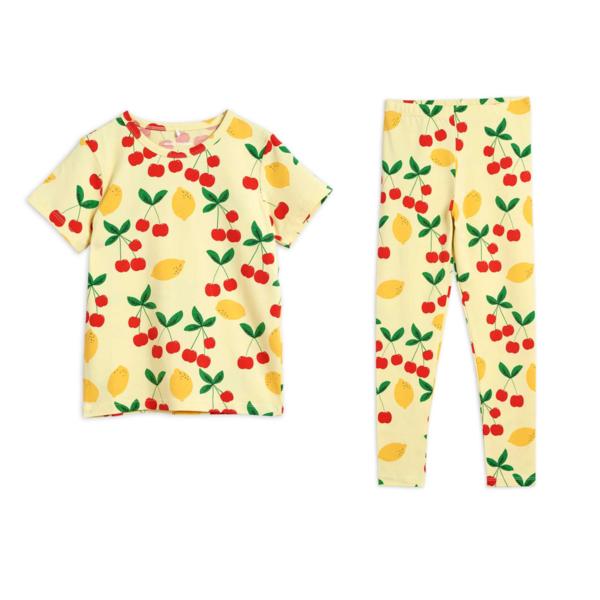 Kids Mini Rodini Cherry Lemonade Leggings