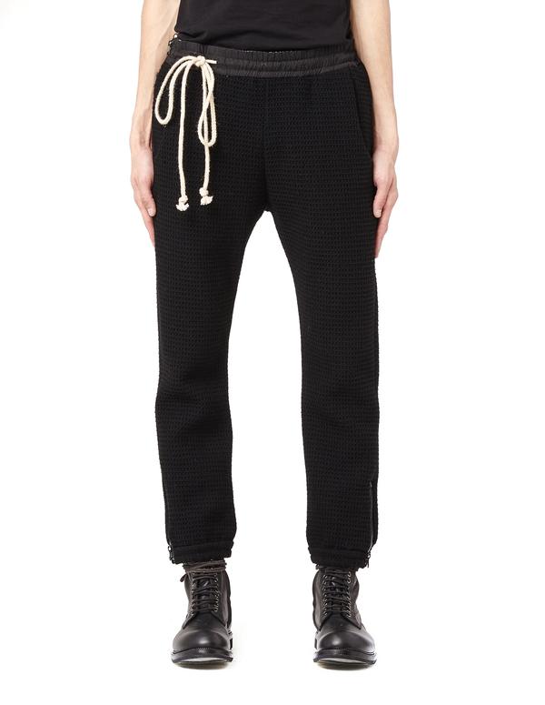 Avialae Zip detail sweatpants - Black