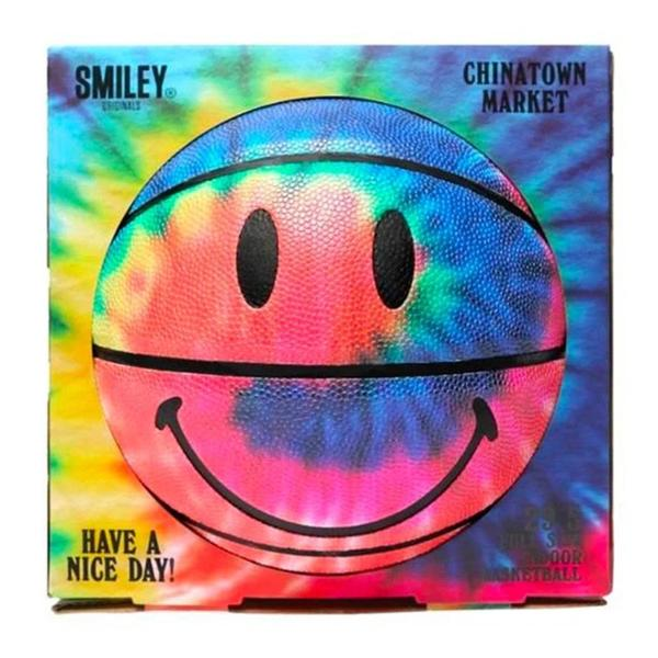 Chinatown Market Smiley Tie Dye Basketball - Tie Dye